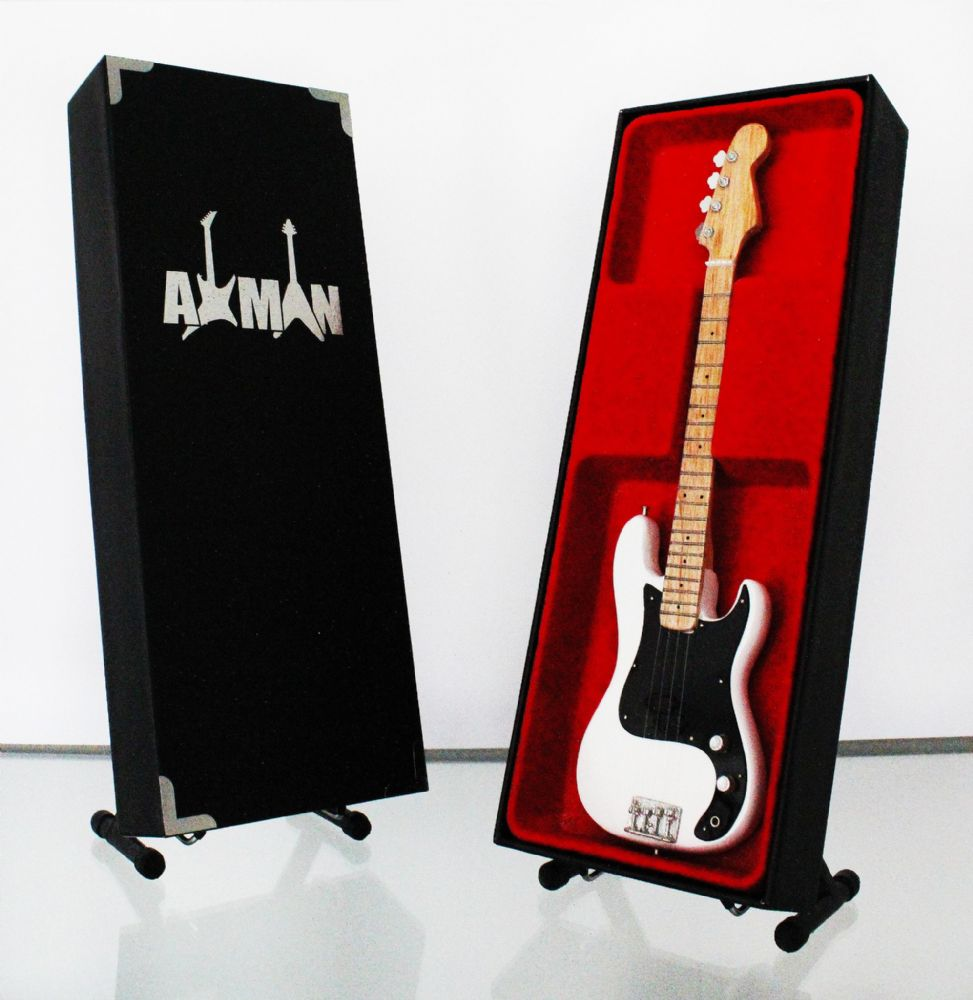 (Ramones) Dee Dee Ramone: Fender P-Bass - Miniature Guitar Replica (UK Seller)